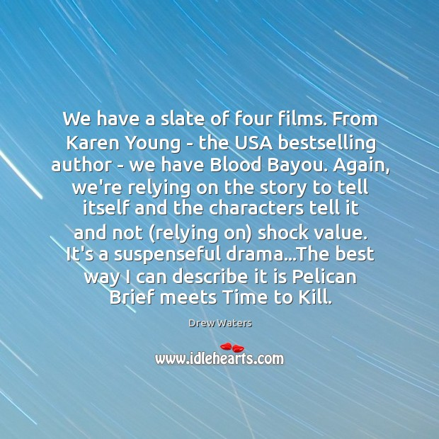 Image, We have a slate of four films. From Karen Young – the