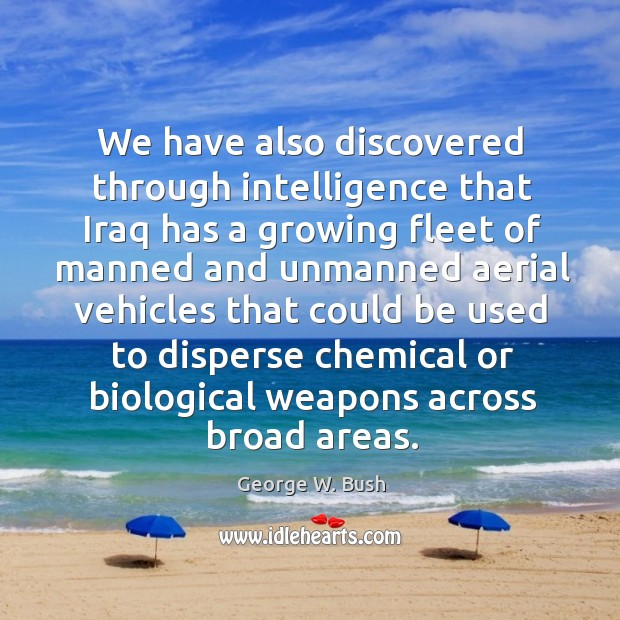 Image, We have also discovered through intelligence that Iraq has a growing fleet