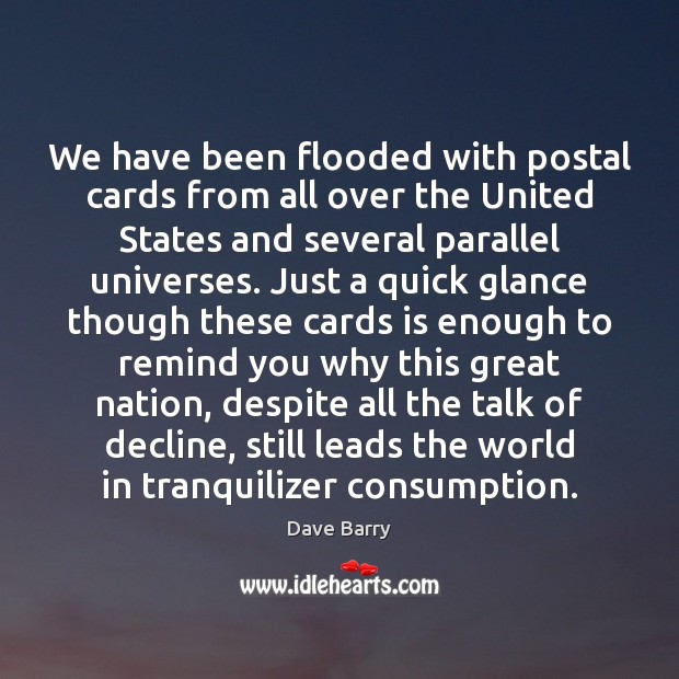 We have been flooded with postal cards from all over the United Image