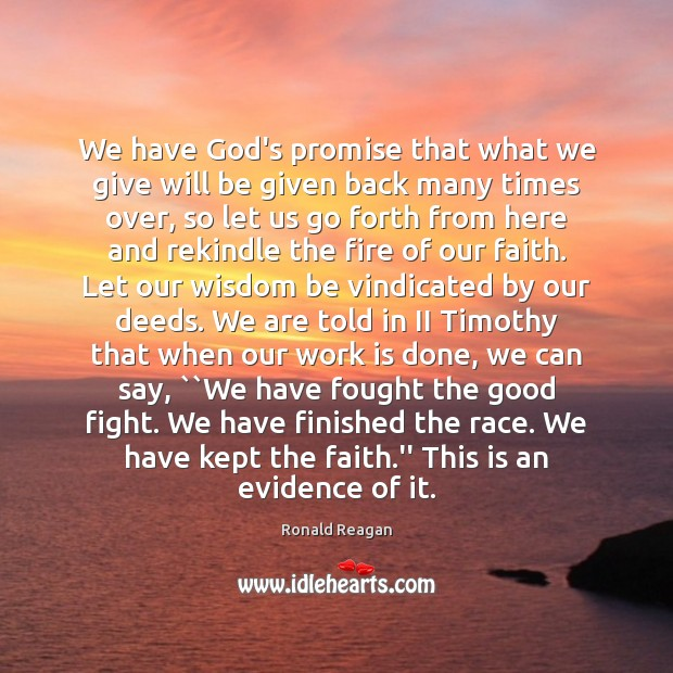 We have God's promise that what we give will be given back Image