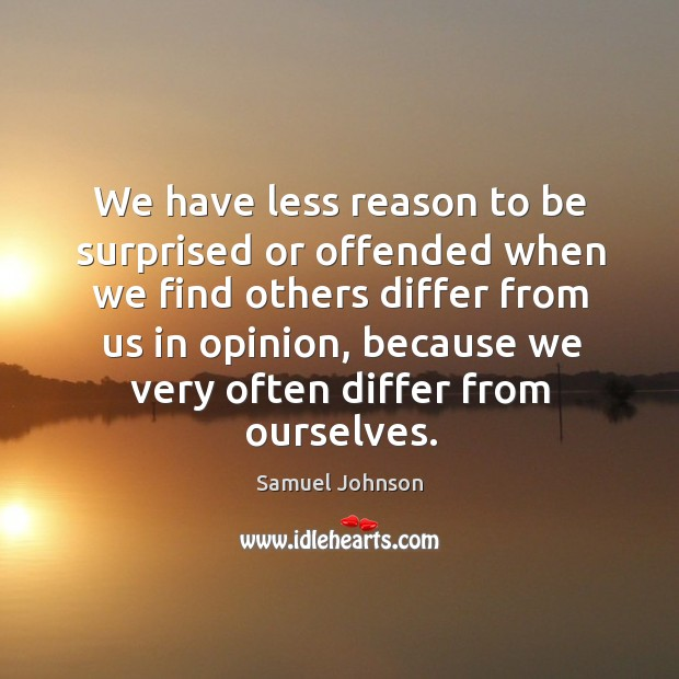 Image, We have less reason to be surprised or offended when we find