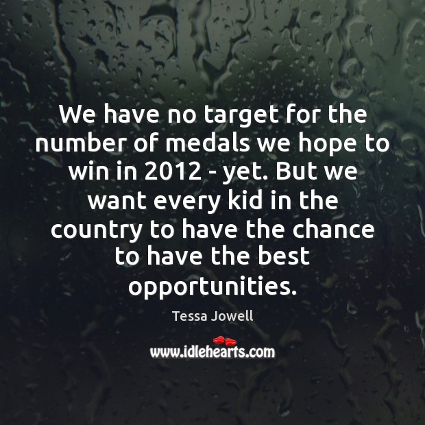 Image, We have no target for the number of medals we hope to