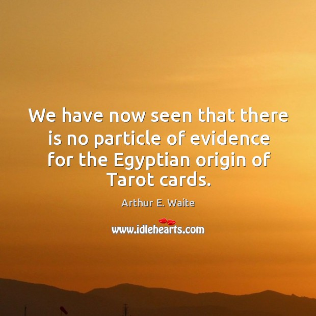 We have now seen that there is no particle of evidence for the egyptian origin of tarot cards. Image