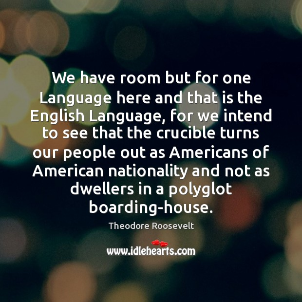 We have room but for one Language here and that is the Image