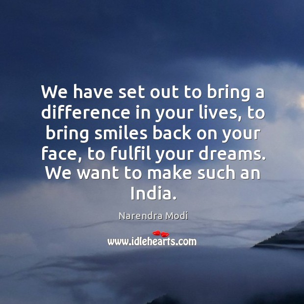 Image, We have set out to bring a difference in your lives, to