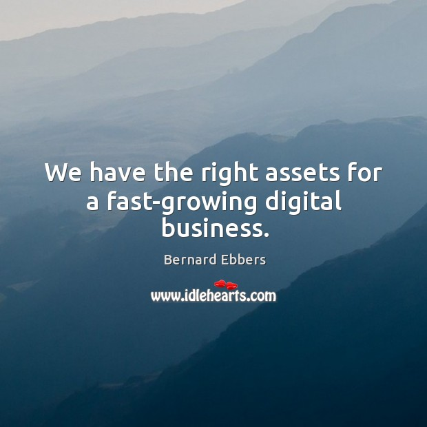 Image, We have the right assets for a fast-growing digital business.