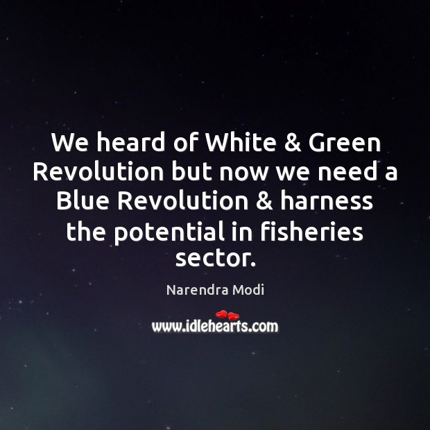 Image, We heard of White & Green Revolution but now we need a Blue