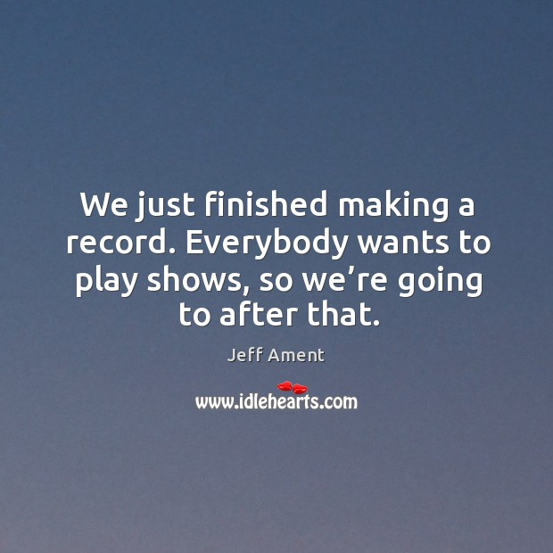Picture Quote by Jeff Ament