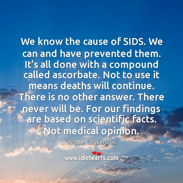 Image, We know the cause of SIDS. We can and have prevented them.