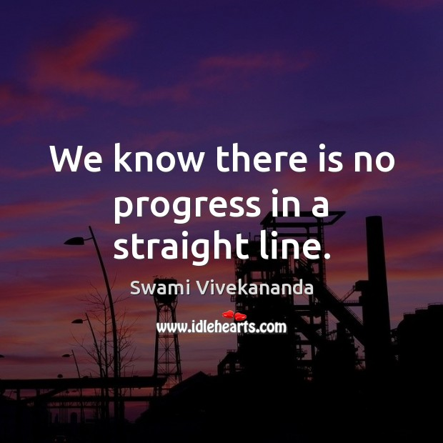 We know there is no progress in a straight line. Image