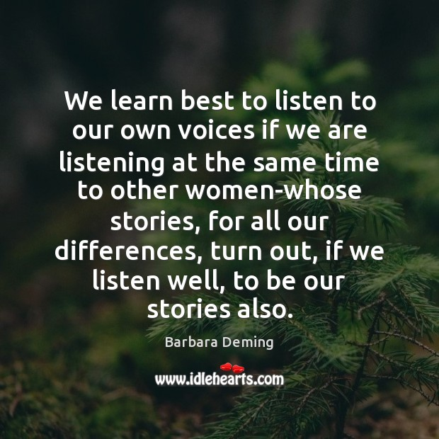 We learn best to listen to our own voices if we are Image
