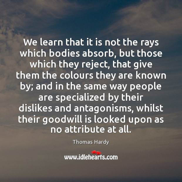 We learn that it is not the rays which bodies absorb, but Image