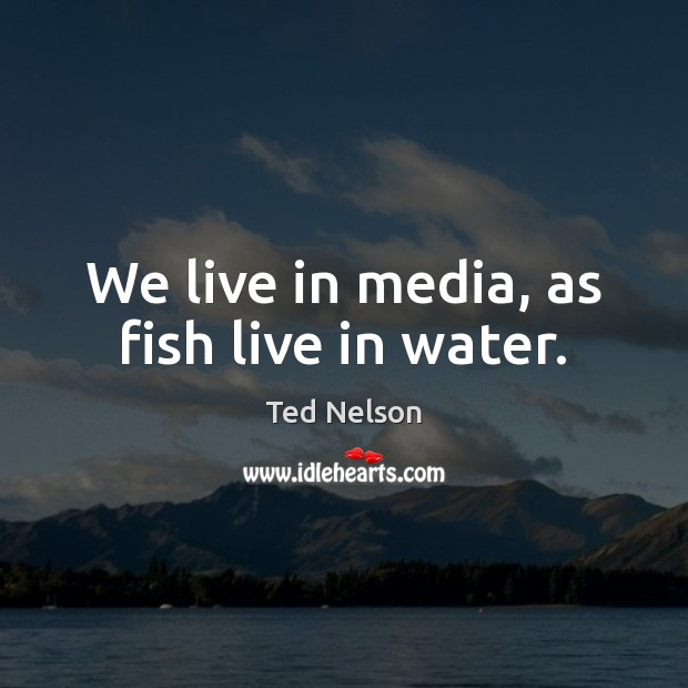 We live in media, as fish live in water. Image