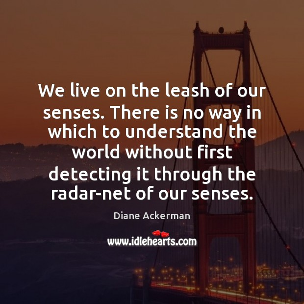 We live on the leash of our senses. There is no way Image