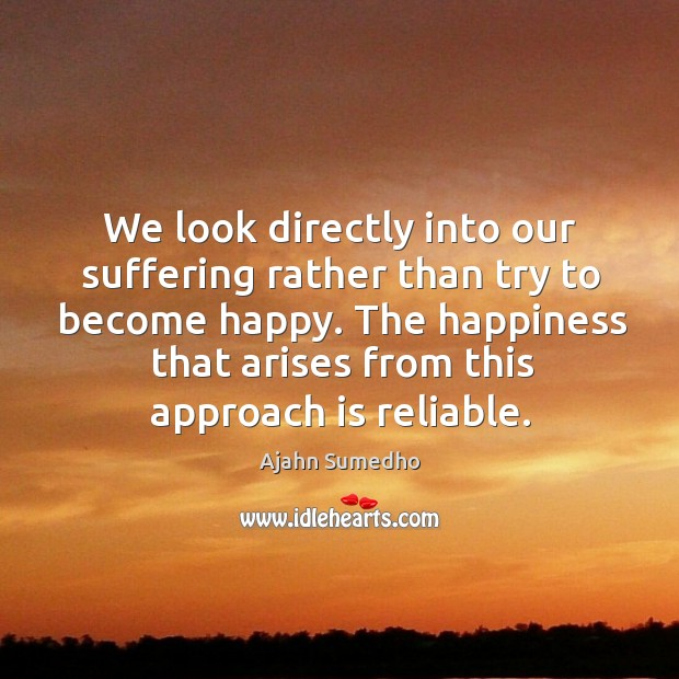 Image, We look directly into our suffering rather than try to become happy.