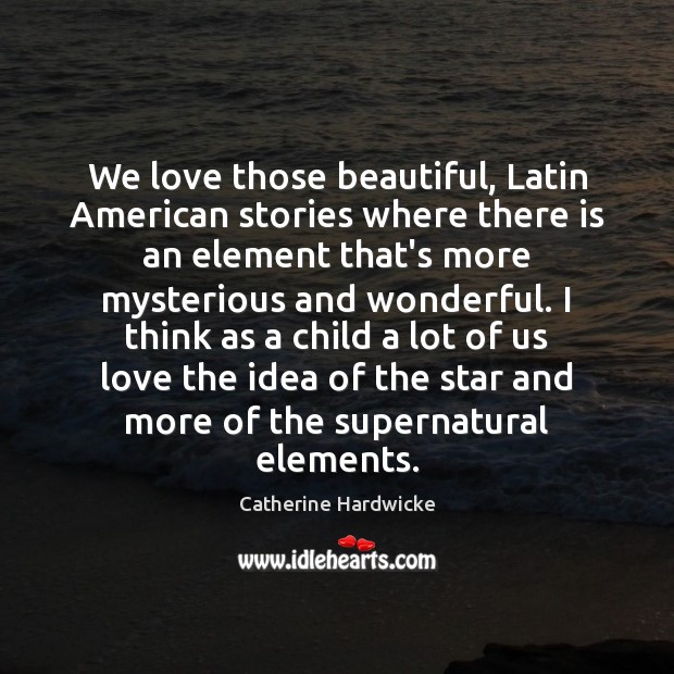 We love those beautiful, Latin American stories where there is an element Image