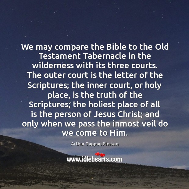 Image, We may compare the Bible to the Old Testament Tabernacle in the