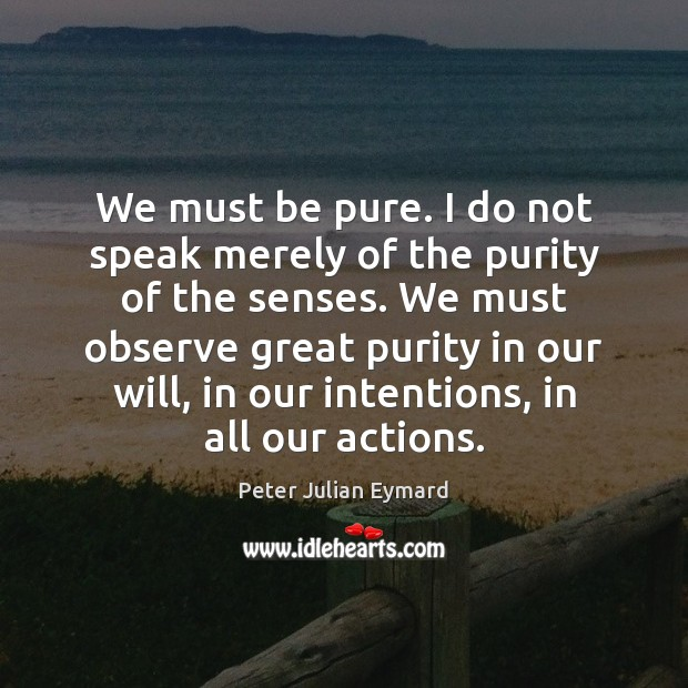 Image, We must be pure. I do not speak merely of the purity