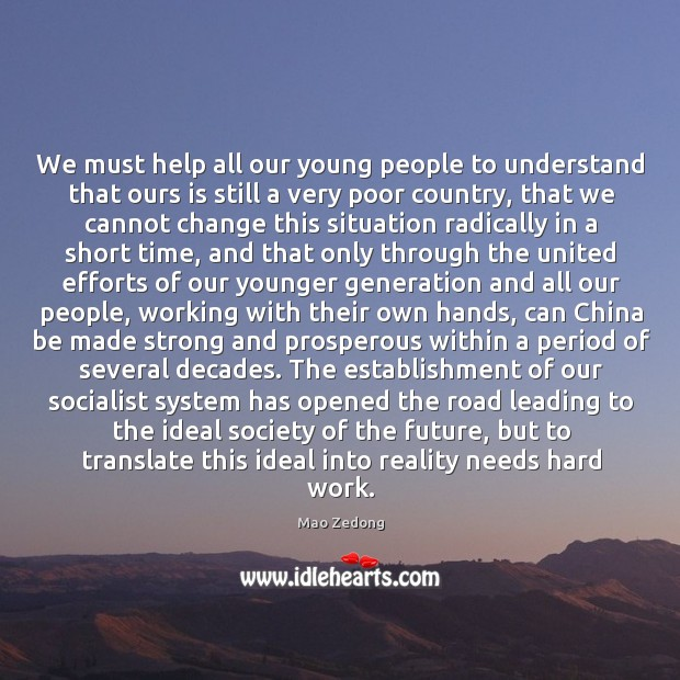 We must help all our young people to understand that ours is Image