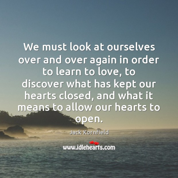 We must look at ourselves over and over again in order to Image