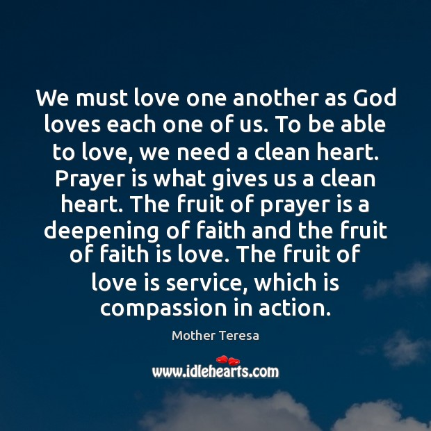 Image, We must love one another as God loves each one of us.