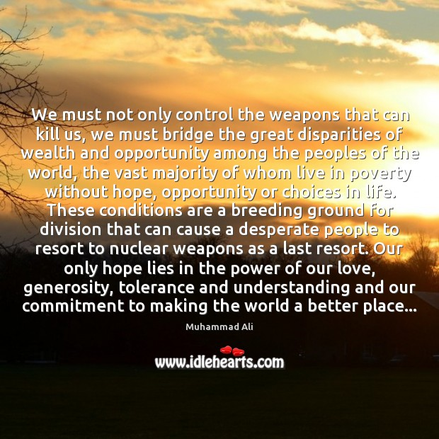 We must not only control the weapons that can kill us, we Image