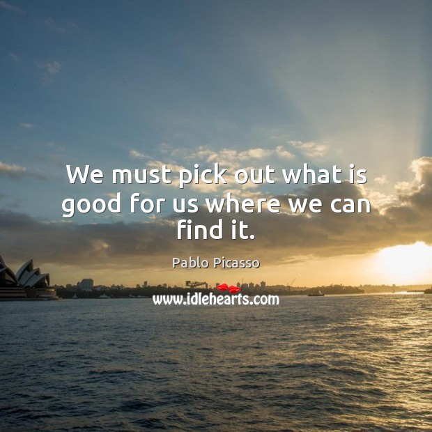 Image, We must pick out what is good for us where we can find it.