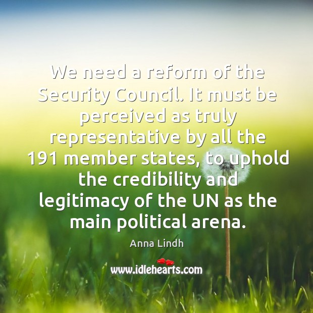 Image, We need a reform of the security council.