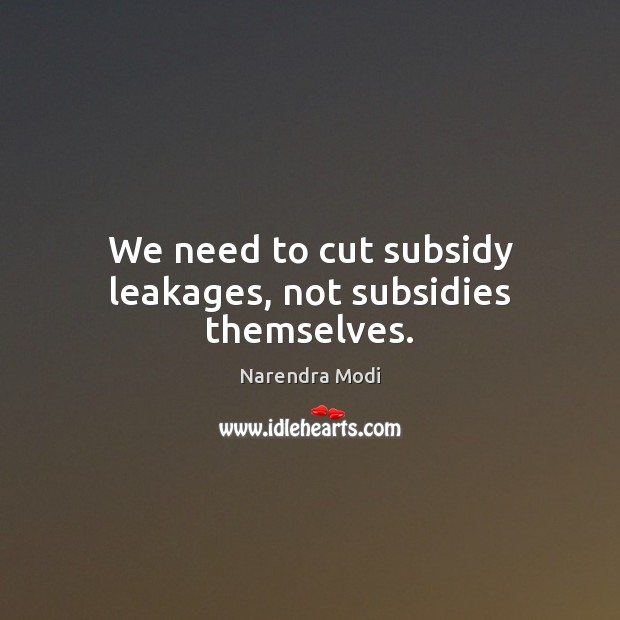 Image, We need to cut subsidy leakages, not subsidies themselves.