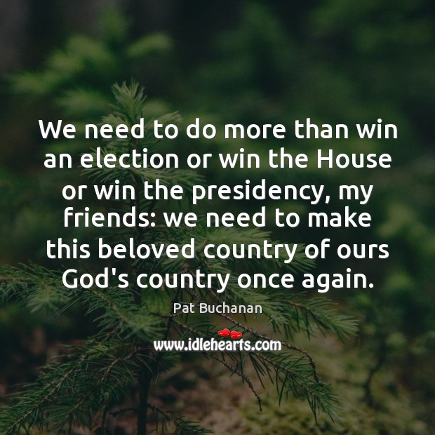 Image, We need to do more than win an election or win the