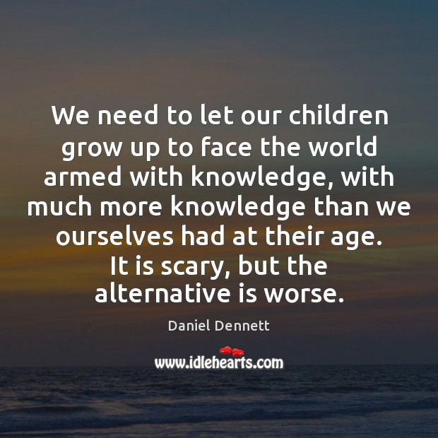 We need to let our children grow up to face the world Image