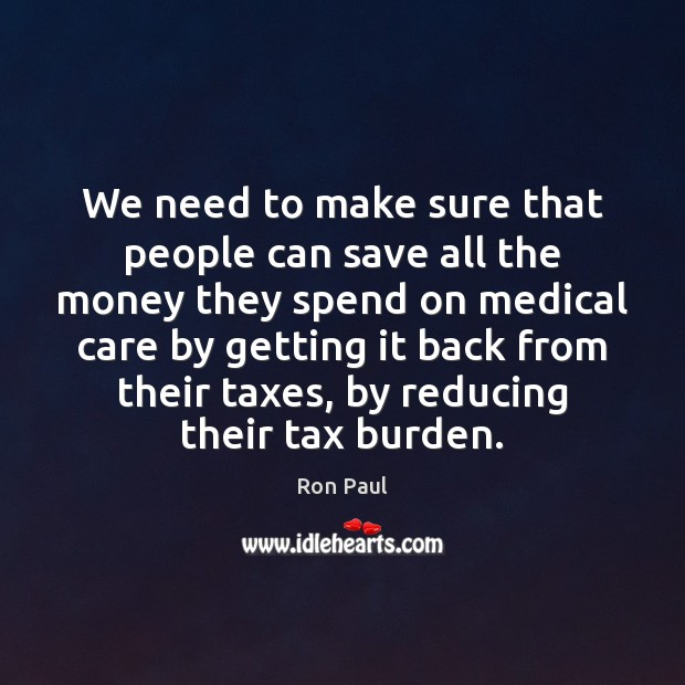 Image, We need to make sure that people can save all the money