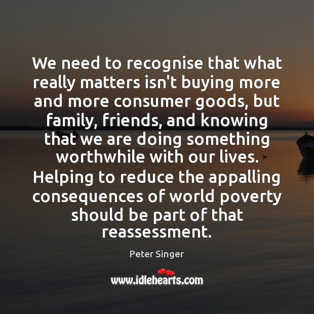 We need to recognise that what really matters isn't buying more and Image