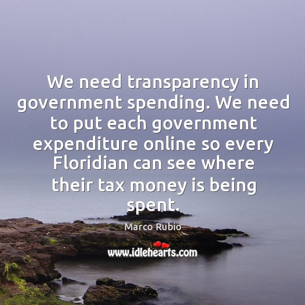 Image, We need transparency in government spending.