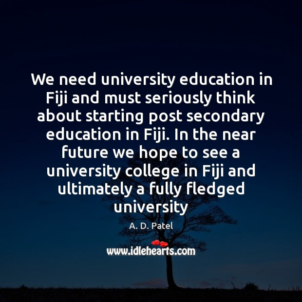 Image, We need university education in Fiji and must seriously think about starting