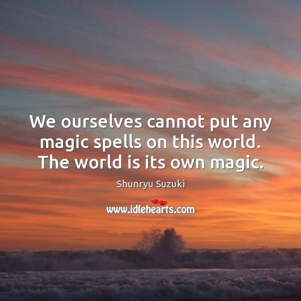 Image, We ourselves cannot put any magic spells on this world. The world is its own magic.