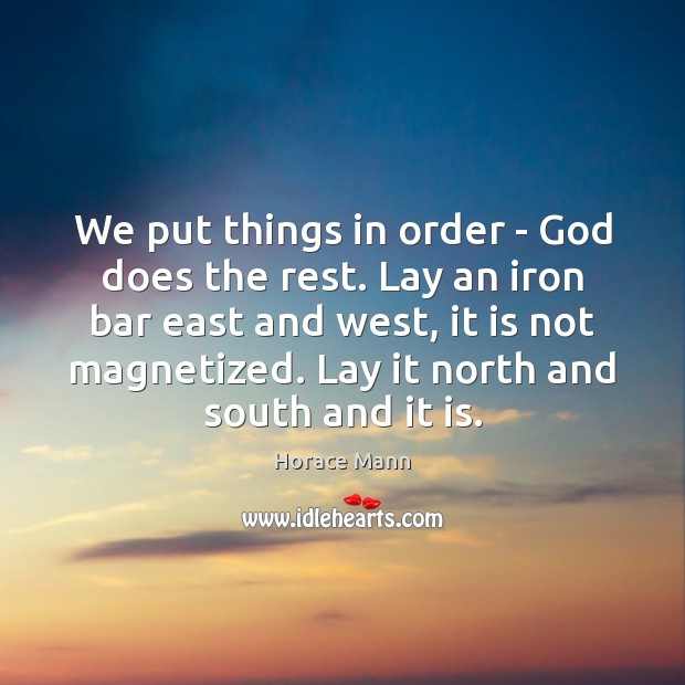 We put things in order – God does the rest. Lay an Image