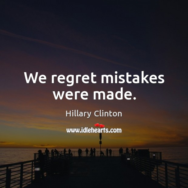 Image, We regret mistakes were made.