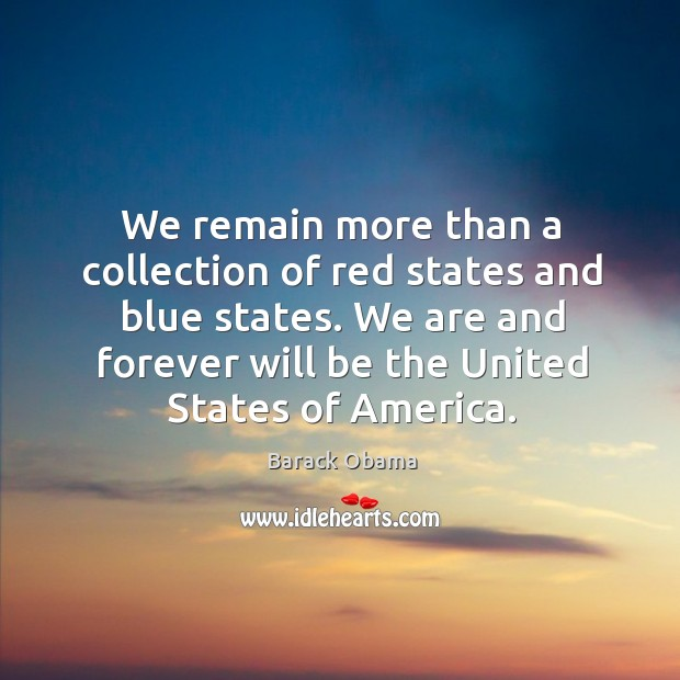 Image, We remain more than a collection of red states and blue states.