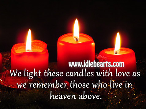 As We Remember Those Who Live In Heaven Above.