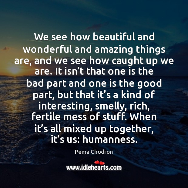 Image, We see how beautiful and wonderful and amazing things are, and we