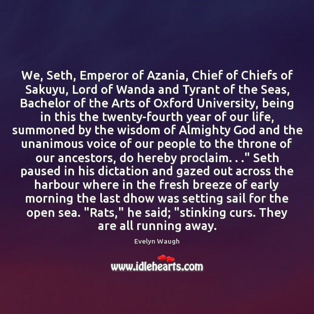 Image, We, Seth, Emperor of Azania, Chief of Chiefs of Sakuyu, Lord of