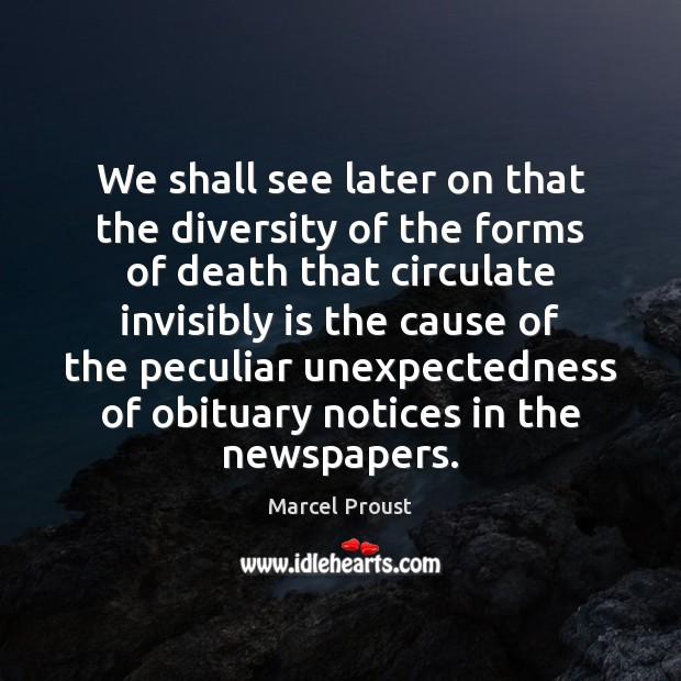 We shall see later on that the diversity of the forms of Image