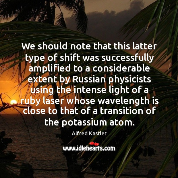 Image, We should note that this latter type of shift was successfully