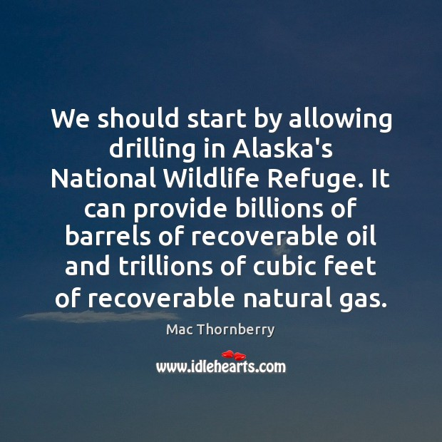 Image, We should start by allowing drilling in Alaska's National Wildlife Refuge. It