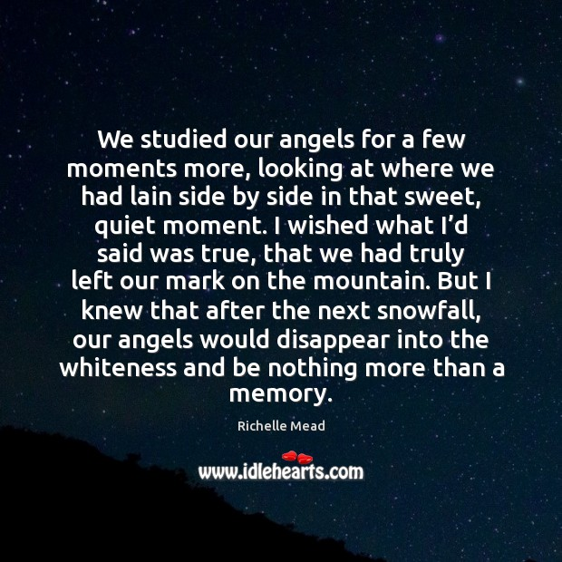 Image, We studied our angels for a few moments more, looking at where