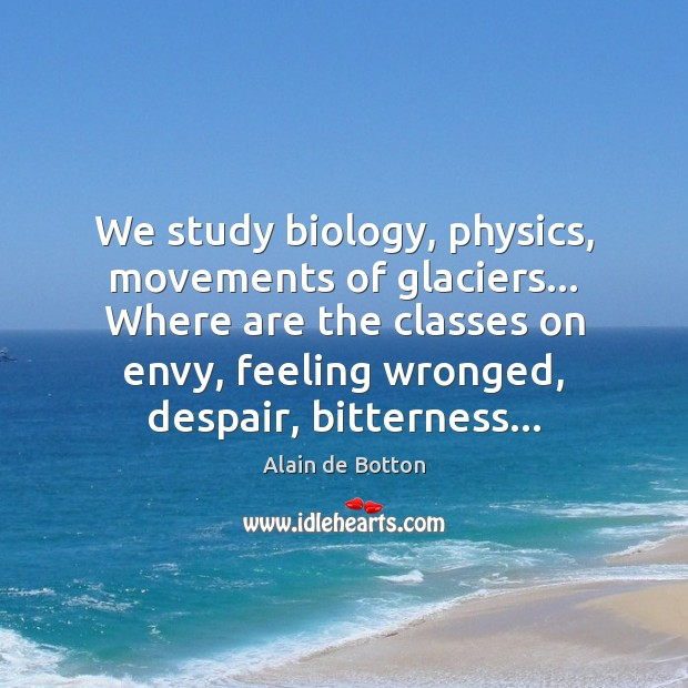 We study biology, physics, movements of glaciers… Where are the classes on Image