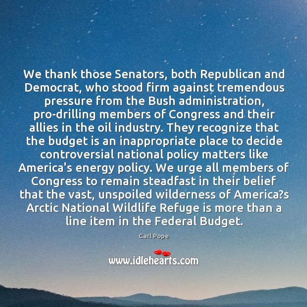 Image, We thank those Senators, both Republican and Democrat, who stood firm against