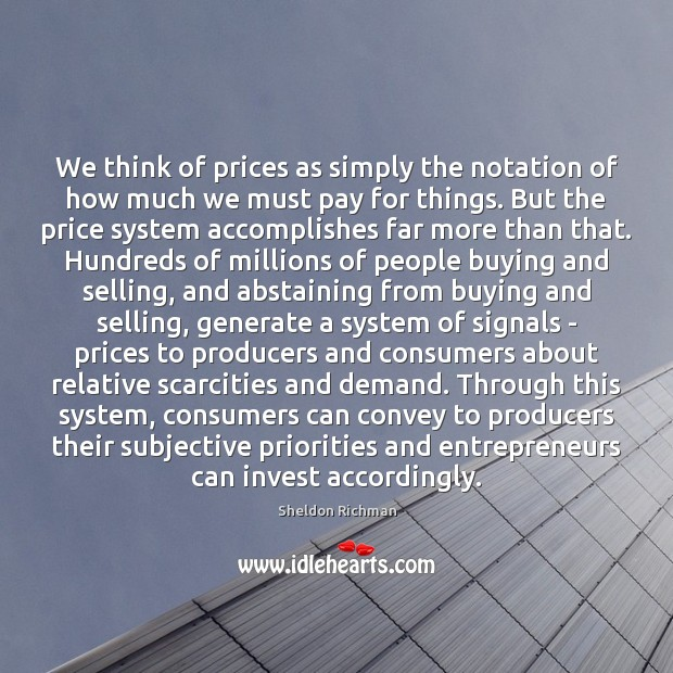 Image, We think of prices as simply the notation of how much we