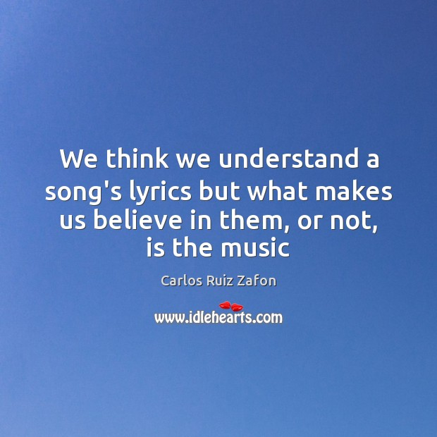 Image about We think we understand a song's lyrics but what makes us believe